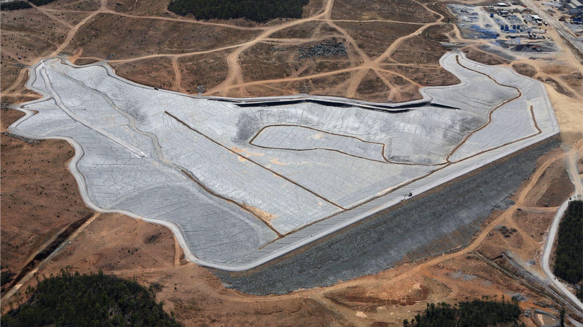 tailing dam installation